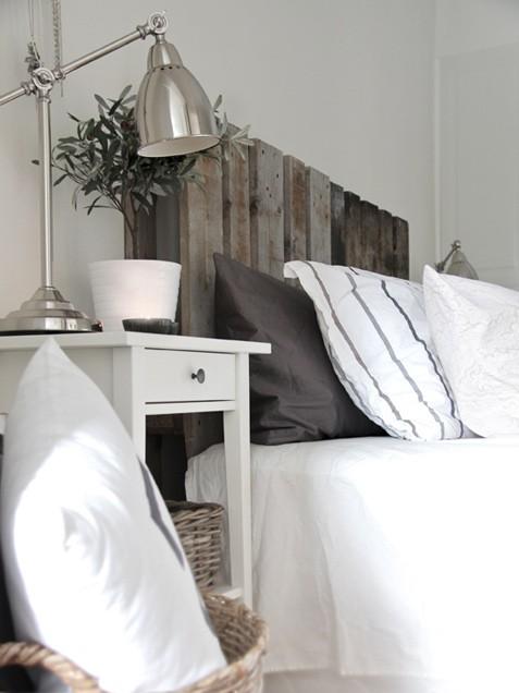 wood plank headboard cottage bedroom stylizimo blog