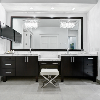 Black Double Vanity, Modern, bathroom, Beach Chic Design