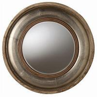Mirrors - ARTERIORS Home Kathleen Light Wood / Silver Foil Mirror | Wayfair - round, beveled, mirror, silver, leaf, foil,