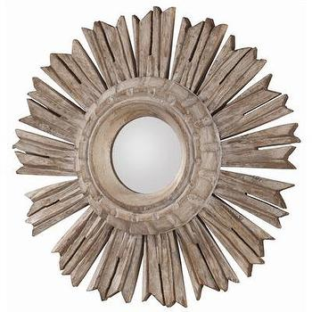 Mirrors - ARTERIORS Home Valence Starburst Mirror | Wayfair - carved, wood, starburst, mirror,