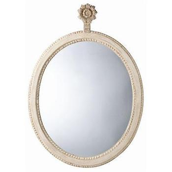 Mirrors - ARTERIORS Home Parkgate Carved Solid Wood Oval Mirror | Wayfair - carved, wood, mirror, oval, cream,