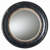 Mirrors - ARTERIORS Home Lawrence Wood / Iron Mirror | Wayfair - mango, wood, framed, round, mirror,