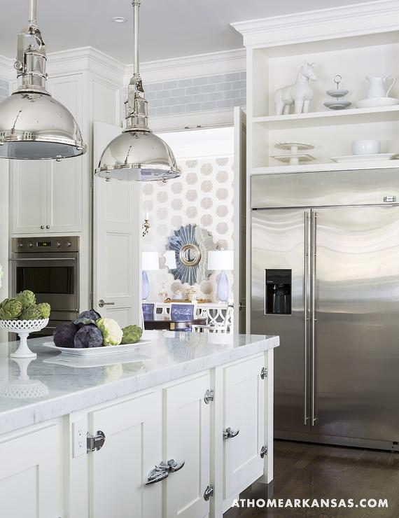 Kitchen Bi-Fold Doors - Transitional - kitchen - At Home in Arkansas