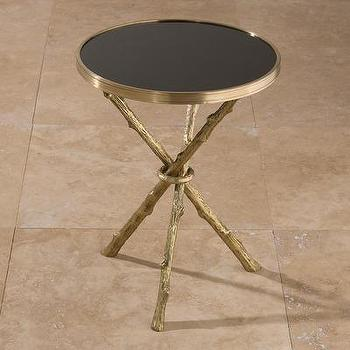 Tables - Global Views Twig Table | Wayfair - twig, table, black, granite, top, brass,