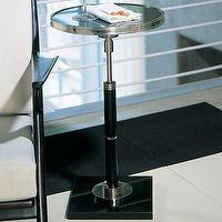Tables - Global Views Deco Side Table | Wayfair - deco, side, table, black, granite, top, ebony,