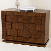 Tables - Global Views Double Block Accent Chest | Wayfair - zebra, wood, double, block, accent, media, cabinet, console, chest,