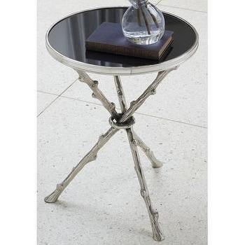 Tables - Global Views Twig Table | Wayfair - twig, branch, accent, side, table, black, granite, top, nickel,