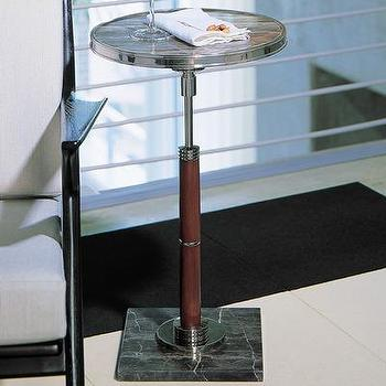 Tables - Global Views Deco Side Table | Wayfair - deco, side, table, brown, marble, top, mahogany,