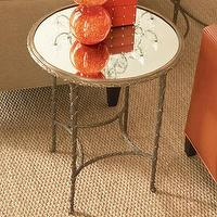 Tables - Global Views Organic Side Table | Wayfair - gold, organic, side, table, mirrored, top, accent,