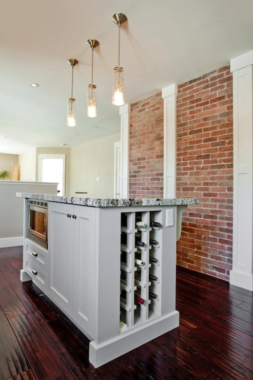 Kitchen Island Wine Rack Contemporary Kitchen Madison Taylor Design