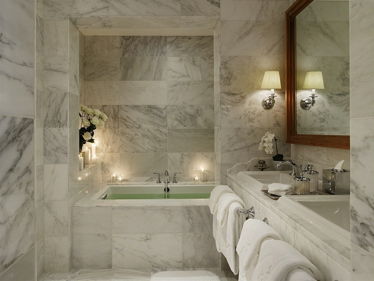 Marble Master Bathroom - Contemporary - bathroom - Nuevo Estilo