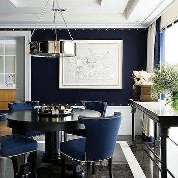 Navy Blue Dining Room, Contemporary, dining room, Nuevo Estilo
