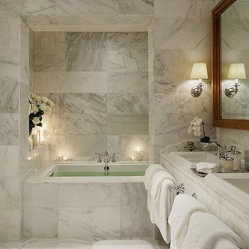 Marble Master Bathroom, Contemporary, bathroom, Nuevo Estilo