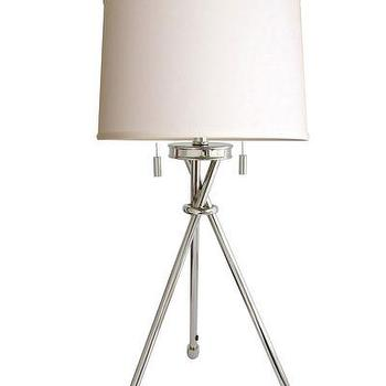 Lighting - High Street Market - Tripod Table Lamp, Polished Nickel - polished, nickel, tripod, table, lamp, modern,