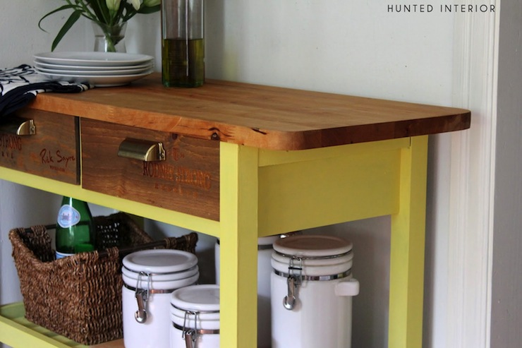 Vintage kitchen island vintage kitchen the hunted interior - Kitchen work tables ikea ...
