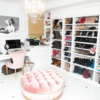 Pink Velvet Chair, Contemporary, closet, The Coveteur