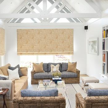 Blue and Yellow Living Room, Contemporary, living room, Diane Bergeron Interiors