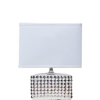 Lighting - High Street Market - Silver Studded Table Lamp - metallic, silver, studded, table, lamp,