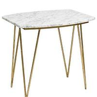 Tables - High Street Market - Spencer Marble Side Table - mid-century, modern, side, table, gold, marble,