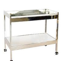 Tables - High Street Market - Alfred Bar Cart - polished, nickel, mirror, framed, shelves, bar, cart,