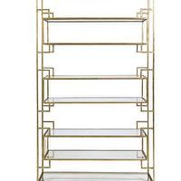 Storage Furniture - High Street Market - Bianca Etagere, Gold Leaf - iron, etagere, gold, leaf, modern,