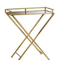 Tables - High Street Market - Darcy Tray Table - bar, tray, table, gold, mirrored, tabletop, iron,