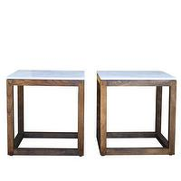 Tables - High Street Market - Milton Cube - solid, wood, espresso, base, Grecian, marble, top, cube, side, table,