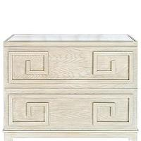 Tables - High Street Market - Helena Greek Key Dresser, Limed Oak - mirror, top, limed, oak, Greek, key, dresser,