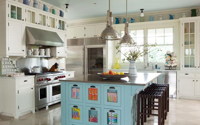 kitchen island candy bins cottage kitchen ali schwarz design group. Black Bedroom Furniture Sets. Home Design Ideas