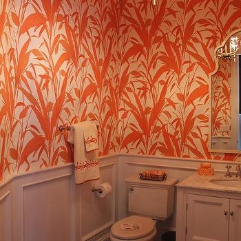 Powder Room Wainscoting, Contemporary, bathroom, Material Girls