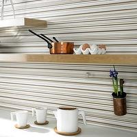 Wallpaper - Barcode Linear Stripe Wallpaper - Graham & Brown - thin, striped, stripe, wallpaper, brown, white, modern,