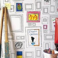 Wallpaper - Frames Wallpaper - Graham & Brown - graphic, black, white, frames, wallpaper, frame,