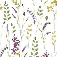 Wallpaper - Bluebell Floral Wallpaper - Graham & Brown - bluebell, floral, wallpaper, purple, green,