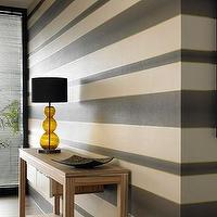 Wallpaper - Chocolate, Cream, Gold Stripe Wallpaper - Graham & Brown - chocolate, brown, striped, wallpaper, metallic,