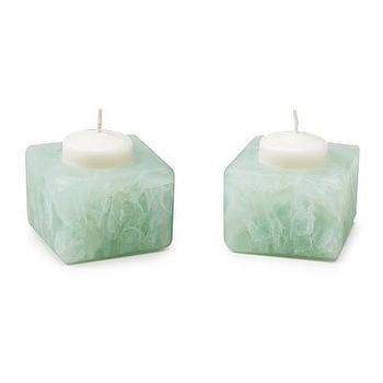 Decor/Accessories - RECYCLED WINDOWPANE CANDLE HOLDERS | UncommonGoods - recycled, glass, candle, holders, aqua,