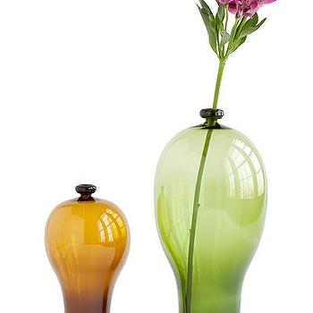 Decor/Accessories - RECYCLED BEER & WINE BOTTLE VASES | UncommonGoods - recycled, bottle, vases, green, amber,