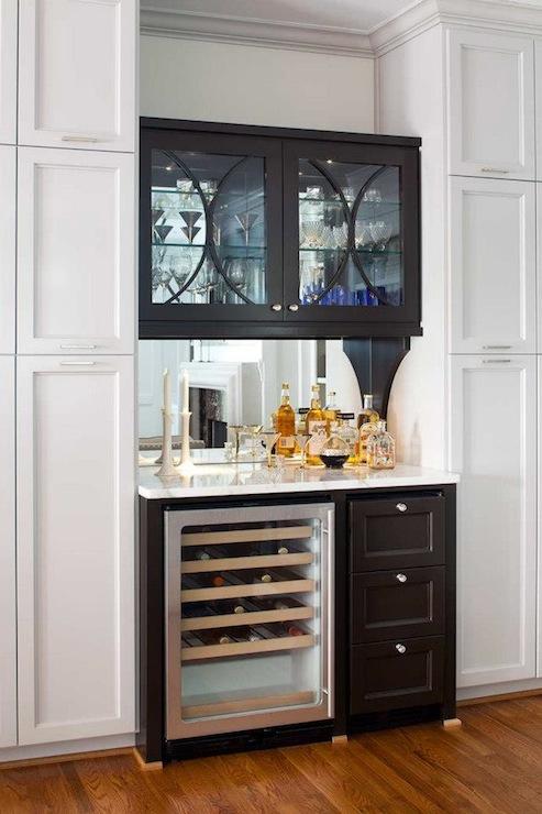 mirror backsplash contemporary kitchen terracotta