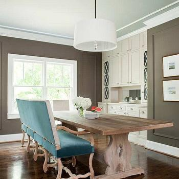 Taupe Walls, Contemporary, dining room, TerraCotta Properties