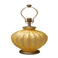 Lighting - Single amber Murano glass lamp - John Salibello - amber, Murano, glass, table, lamp, vintage,