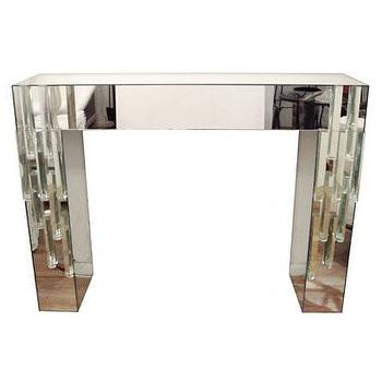Tables - Mirrored console table - John Salibello - mirrored, console, table, glass, contemporary,