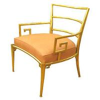 Seating - Pair of Asian armchairs - John Salibello - Asian, armchair, brass, leather,
