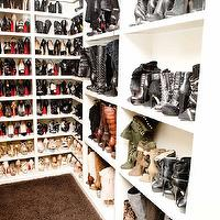 The Coveteur - closets - shoe closet, shoe racks, built-in shoe racks, built-in shoe shelves, walk-in closet, glam closet, glamorous closet, built-ins, closet built-ins, closet cabinets, closet built-in cabinets, Louis Vuitton, Khloe Kardashian, shoe cabinet, shoe shelves, shelves for shoes, shoe storage, closet shoes, shoe closet, khloe kardashian closet,