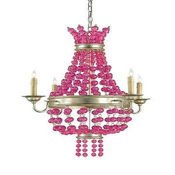 Lighting - Martini Chandelier - Mig & Tig - beaded, chandelier, fuschia, pink, silver, granello,