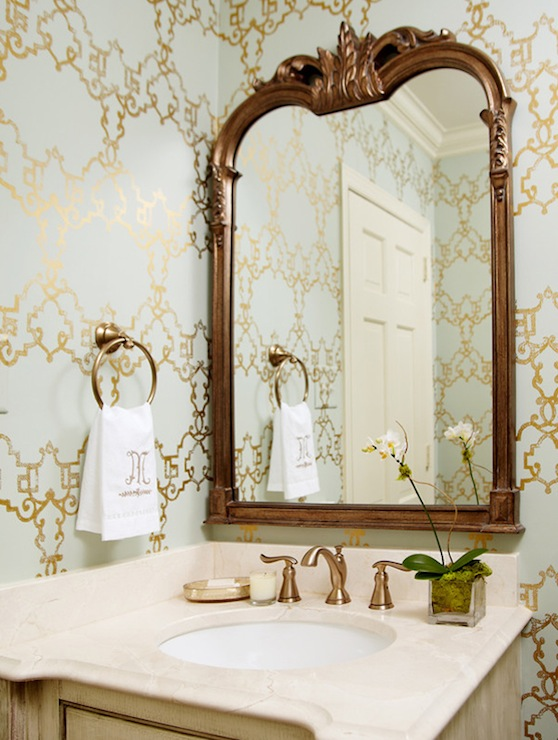 Lastest Black And White And Elegant Patterns Will Take Your Bathroom Far, But To Really Cinch The Classic  Stunning Schoolhouse Electric Sconces, A Brass Pivot