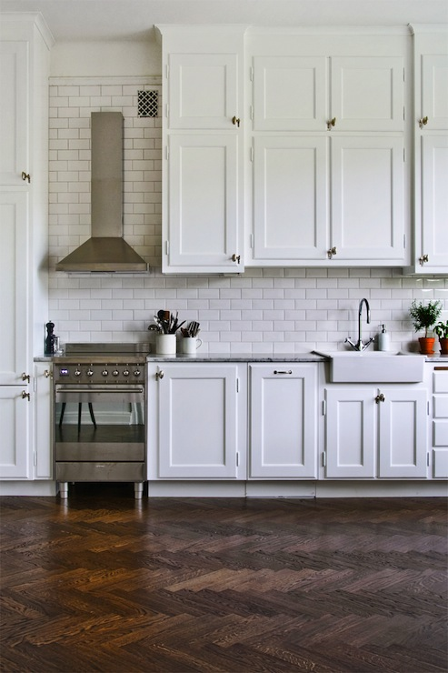 Herringbone Floors Transitional Kitchen Byggfabriken