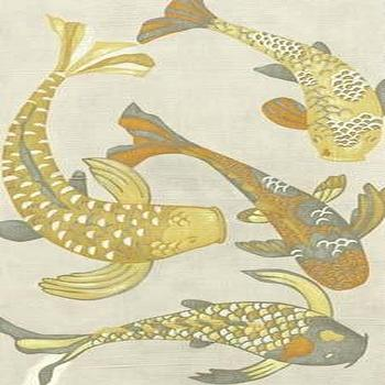 Art/Wall Decor - Golden Koi I Canvas - Mig & Tig - koi, fish, yellow, gray, giclee, canvas, art,
