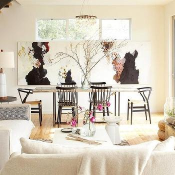 Ochre Arctic Pear Chandelier, Eclectic, living room, Dehn Bloom Design