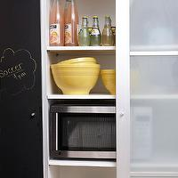 BHG - kitchens - pantry, frosted glass, frosted glass pantry, frosted glass pantry doors, chalkboard wall, sliding doors, sliding pantry doors, frosted glass sliding doors, chalkboard wall, kitchen chalkboard wall, chalkboard, kitchen chalkboard, kitchen chalkboard ideas, chalkboard kitchen, chalkboard in kitchen, chalkboard message board, kitchen chalkboard message board, chalkboard door, chalkboard pantry door, pantry chalkboard door,