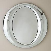 Mirrors - Contemporary Polished Chrome Mirror - Mig &amp; Tig - contemporary, polished, chrome, plated, mirror,