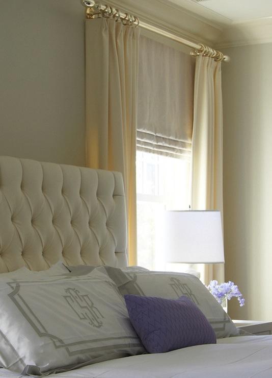 Velvet tufted headboard traditional bedroom lynn for Velvet bedroom designs